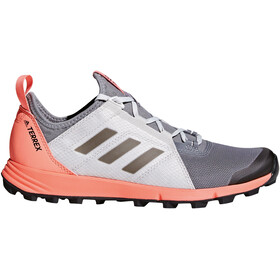 adidas TERREX Agravic Speed Shoes Women Grey Three/Core Black/Chalk Coral